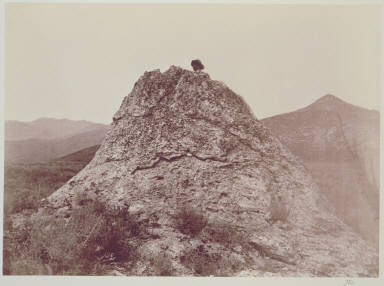 Hollow mound found by thermal springs--Midway Settlement, Provo Valley - Wahsatch Mountains.