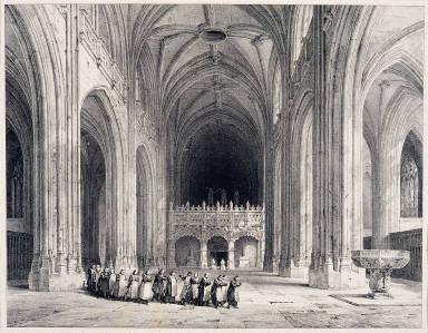 Vue Generale de l'interieur de l'eglise du Brou