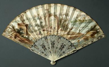 Folding Fan: Landscape with Ancient Ruins