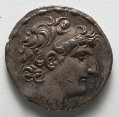 Tetradrachm: Head of Antiochus VIII (obverse)