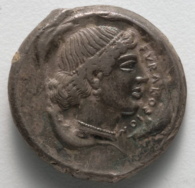 Tetradrachm: Head of a Nymph (obverse)
