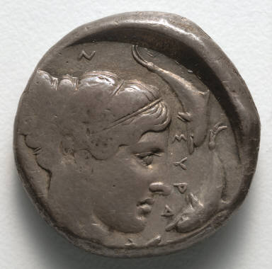 Tetradrachm: Head of Nymph (obverse)