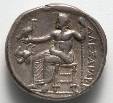 Tetradrachm: Zeus Seated on Throne (reverse)