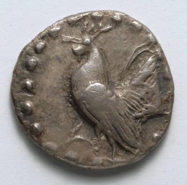 Aegineatan Drachm: Rooster (obverse)