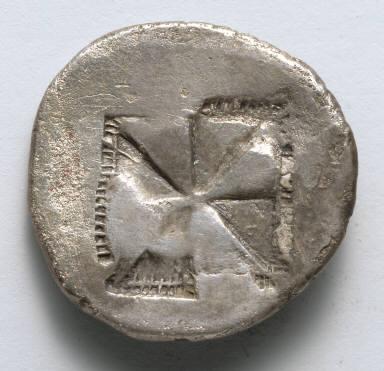 Aegineatan Drachm: Incuse Square (reverse)