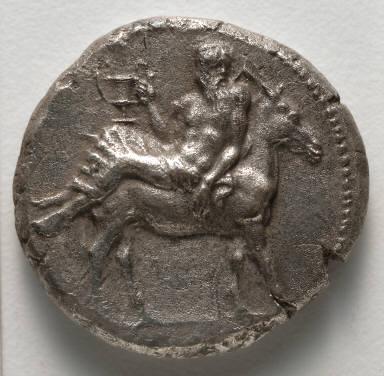 Tetradrachm: Silenus on a Donkey (obverse)