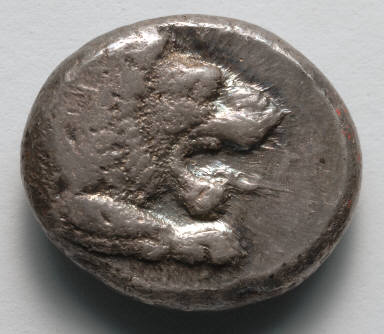 Drachm: Forepart of Lion (obverse)