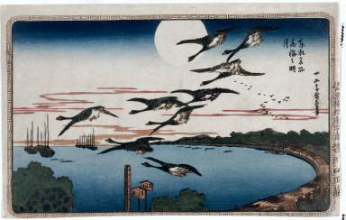 Full Moon over Takanawa, from the series Famous Places in the Eastern Capital