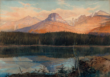 Summit Lake near Lenchoile, Bow River, Canadian Pacific Railway