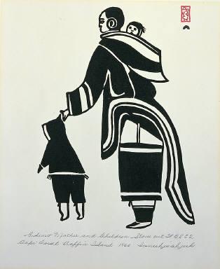 Eskimo Mother and Children