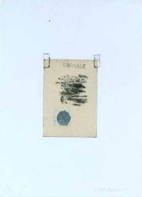 Note with Blue Stamp