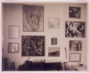 Living Room of New York Apartment of Louise and Walter Arensberg (Section of East Wall)