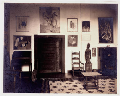 Living Room of New York Apartment of Louise and Walter Arensberg (Section of South Wall)