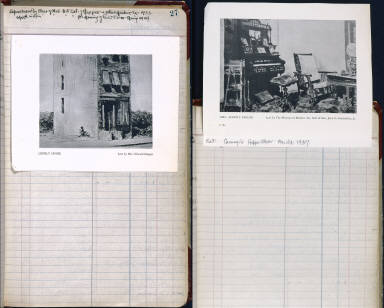 Artist's ledger - Book I: P. 27 (includes clipping of LONELY HOUSE)
