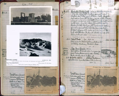 Artist's ledger - Book I: clipping of CAPE ANNE hinged to p. 56