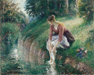 Woman Bathing Her Feet (Le Bain-de-pied)