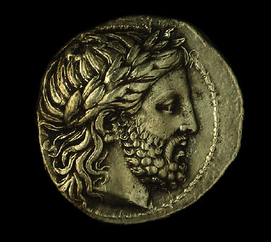 [Coin Showing the God Zeus, Reverse: Horseman with victory palm]
