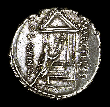 [Coin Showing Consul Marcellus, Reverse: Consul Marcellus consecrating trophy]