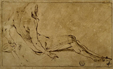 Reclining Male Nude, from Behind