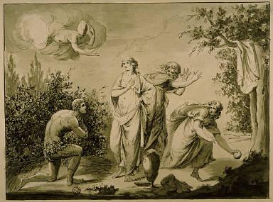 [Ulysses and Nausicaa, Odysseus and Nausicaa (from Homer's Odyssey), Homer's Odyssey (Bk 6, verse 175)]