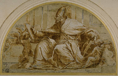 Seated Church Father (Saint Augustine?) with Putti