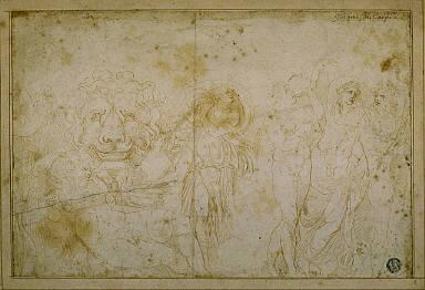 Blenheim Palace Sarcophagus: Bacchanale with Lion's Head