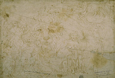 Blenheim Palace Sarcophagus: Mythological Figures with Lion's Head