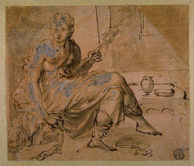 Seated Woman with Spindle