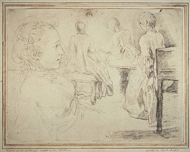 [Four Views of a Young Woman, Four Studies of a Young Girl, Four Studies]