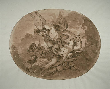 [Eros and Psyche: Design for a Ceiling, Venus and Cupid (Study for a Ceiling)]