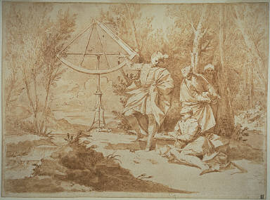 [The Astronomers, Study, Final Published Work: Mars, painting, Pinacoleca Vaticana, c.1711]