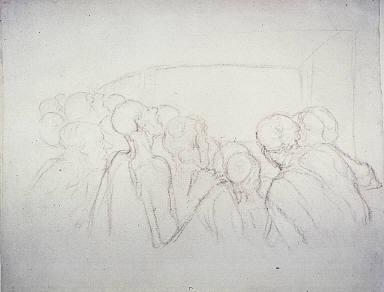 [The Spectators, Groupe de Spectateurs, de dos]