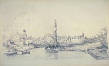 [Canal Scene Near Brussels, River Landscape]