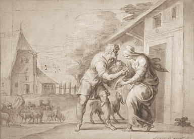 [The Goatherd Lamon Handing the Infant Daphnis to his Wife Myrtele, The Goatherd Lamon Brings the Infant Daphnis to Myrtele]