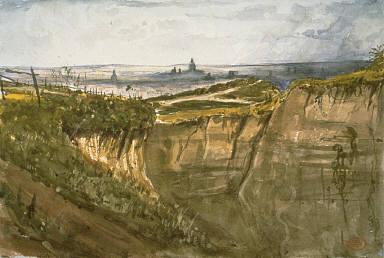 [View of Paris, from Meuden, Vue de Paris, prise à Meuden, Paris, seen from Montmartre, Paris, View from Montmartre]