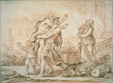 [Aeneas Fleeing with Anchises from the Ruins of Troy, Aeneas Anchises from Burning Troy]