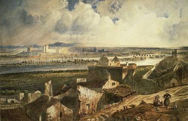 [View of Avignon (from Villeneuve les Avignon), Avignon]