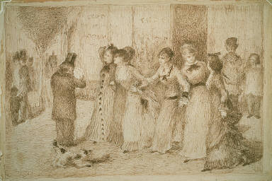 "[Workers' Daughters on the Outer Boulevard (Illustration for Emile Zola's ""L'Assommoir""), The Dram Shop (L'Assommoir)]"