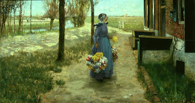 Flower Girl in Holland