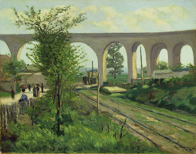 [The Arcueil Acqueduct at Sceaux Railroad Crossing, L'aqueduc d'Arcueil-Ligne de Sceaux]