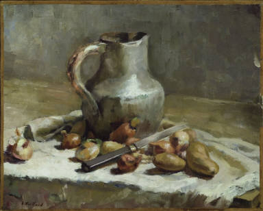 Still Life with Jug and Knife