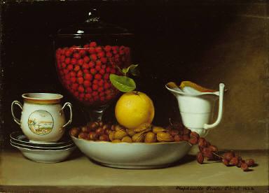 Still Life - Strawberries, Nuts, & c.