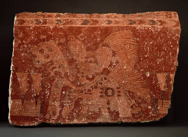 Mural fragment depicting a rain priest