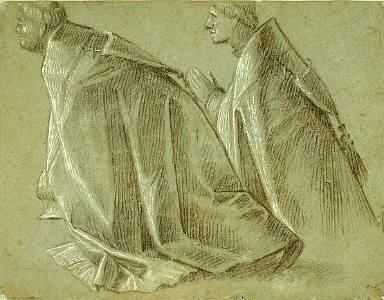 Study of Two Kneeling Clerics