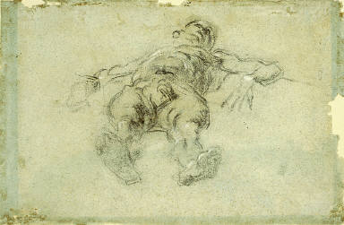 Reclining Male Nude, Foreshortened