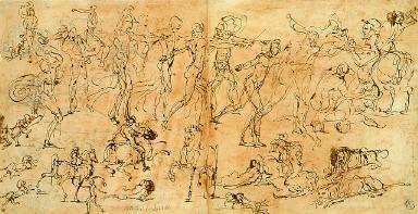 Studies of Warriors, Horsemen, and Lions