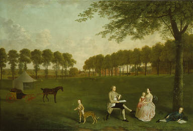 Sir John Shaw and his Family in the Park at Eltham Lodge, Kent