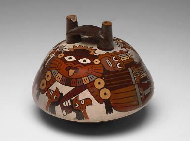 Dome-shaped jar depicting ceremonial figure