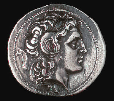 [Coin Showing Alexander the Great, Reverse: Athena enthroned holding Nike (Victory)]