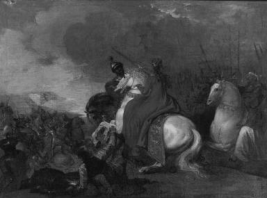 Queen Philippa at the Battle of Neville's Cross